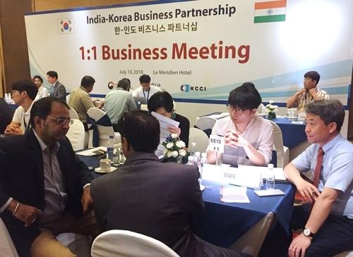 韩印商务洽谈会在新德里举行
