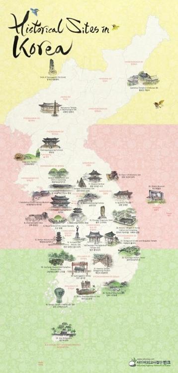韩民团制作英文版古迹地图方便外国游客