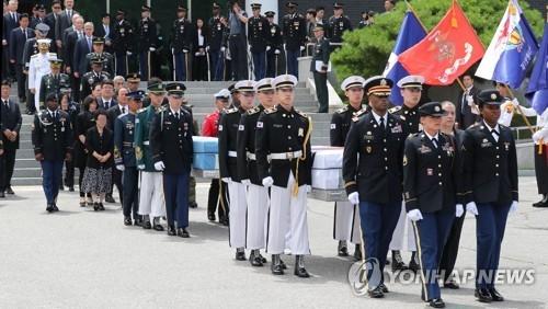韩美相互移交韩战时期阵亡军人遗骸