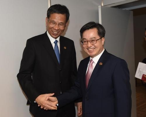 韩中财长会晤 韩方吁中方关注韩企在华难题