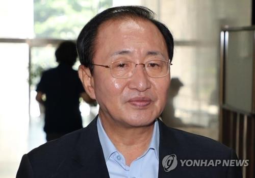 资料图片:在野党正义党前党鞭鲁会灿(韩联社)
