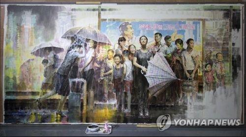 朝鲜美术作品下月来韩参展