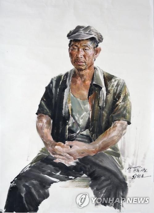 朝鲜画家的作品(韩联社/光州双年展提供)