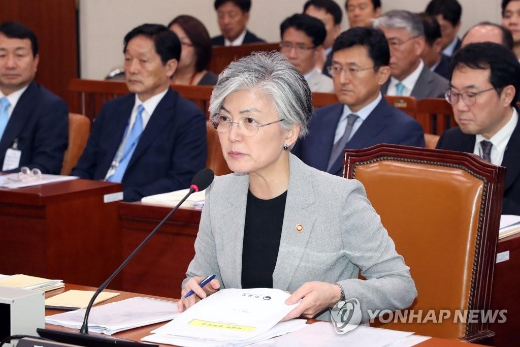 韩外长:为尽早签署终战宣言而与各方沟通