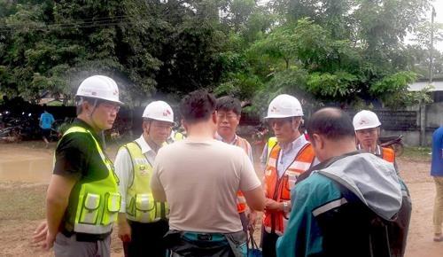 SK建设承诺援助老挝溃坝灾区