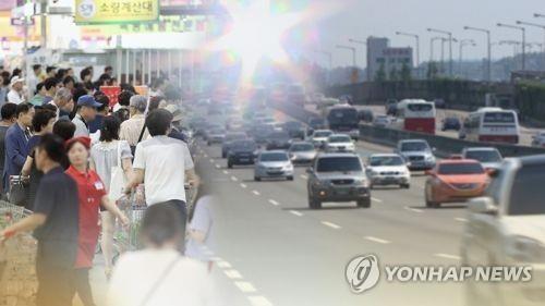简讯:首尔最高气温38.5度创111年来最高值