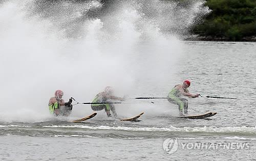 资料图片:春川休闲运动会现场(韩联社)