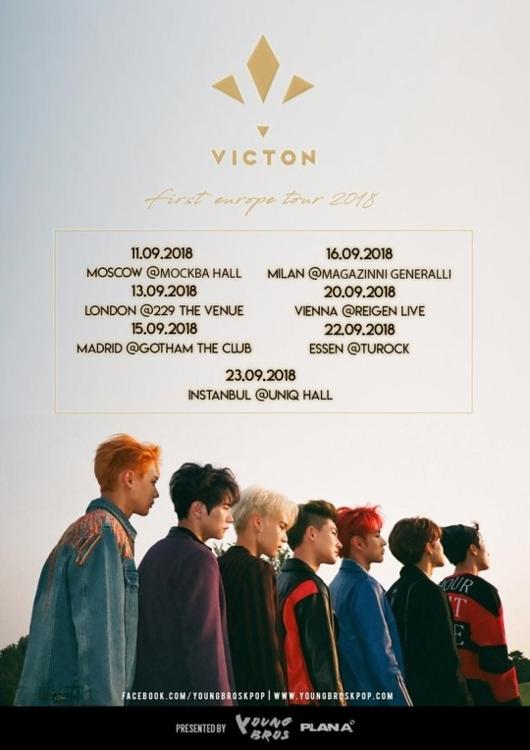 男团VICTON下月将举行欧洲巡演