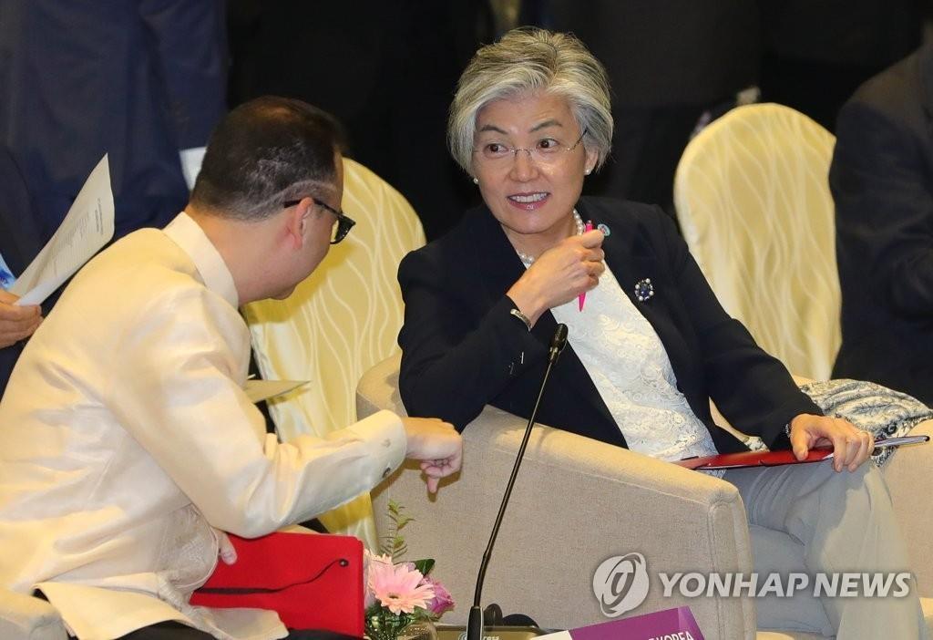 韩外长出席东盟地区论坛吁各方支持无核化