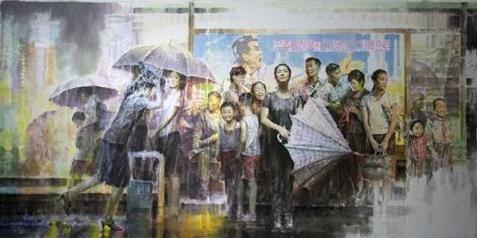 朝鲜美术作品入韩 下月亮相光州双年展