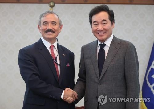 韩总理向美国大使强调同盟协作