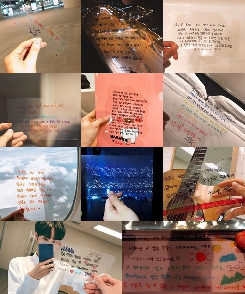 Wanna One在SNS公开的亲笔信(官方Instagram)