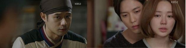 KBS电视台韩剧《面条之神》(左)和《未来的选择》剧照(KBS官网)