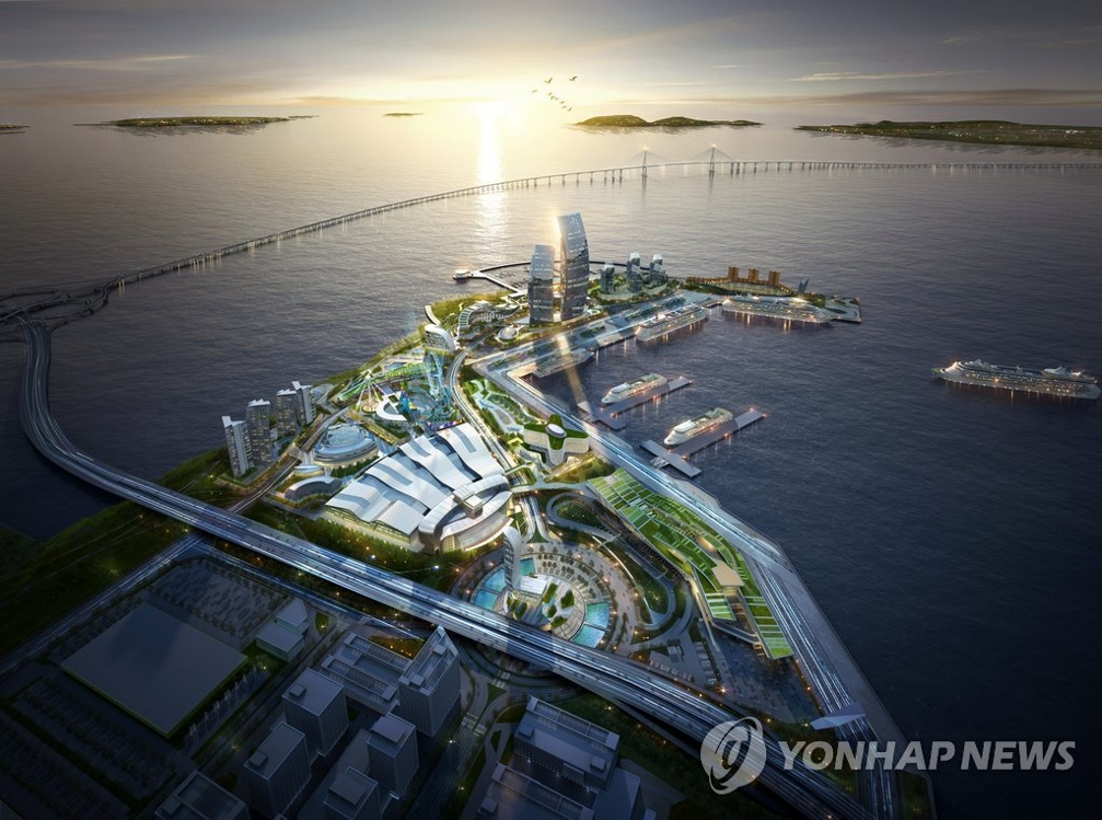仁川港新国际客运站模拟图(韩联社)