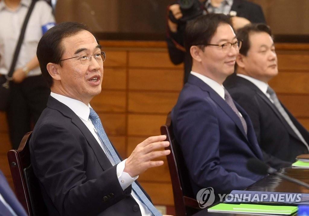 韩统一部长官:韩朝同心协力定能解决问题