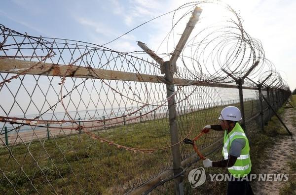 韩国将大幅拆除沿江沿海边防围栏
