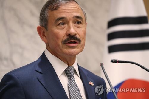 消息:美国驻韩大使上周出席朝美板门店磋商