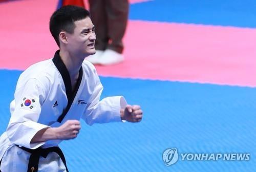 简讯:亚运跆拳道男子个人品势 韩国姜民成摘金