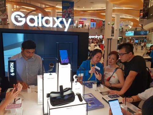 在新加坡开设的Galaxy Studio(韩联社/三星电子提供)