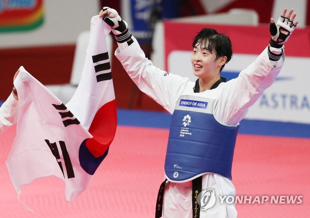亚运跆拳道女子67公斤级韩国李多彬夺金