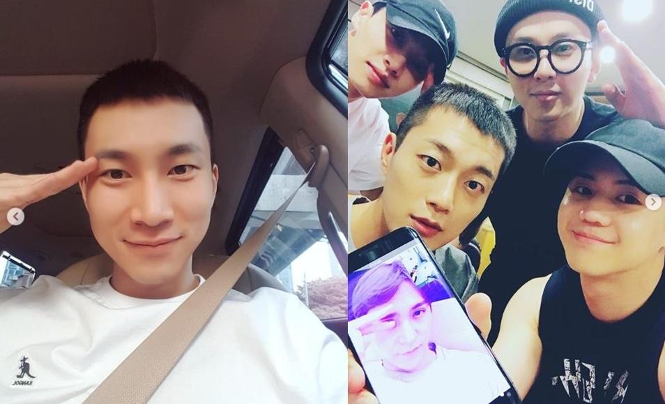 左图为BTOB成员徐恩光,右图为男团HIGHLIGHT。(艺人Instagram画面截图)