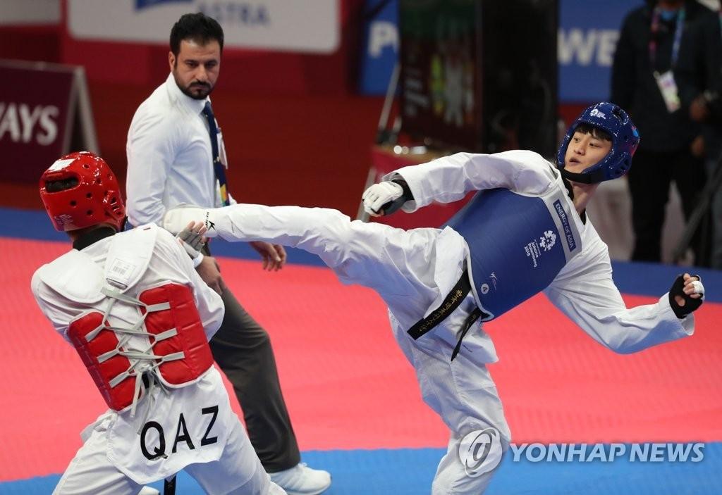 韩国李大勋首创亚运跆拳道三连冠纪录