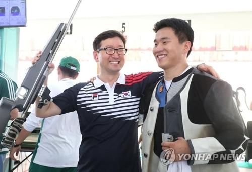 亚运射击男子300米标准步枪三姿 韩国包揽金铜