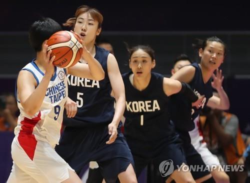 亚运女篮韩朝联队挺进决赛