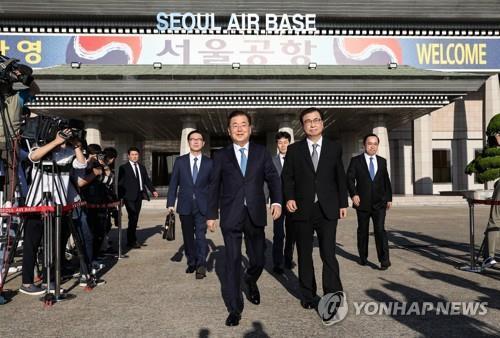 详讯:访朝特使团向金正恩转交韩总统书信