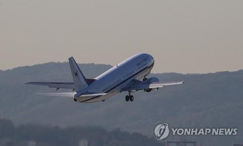 韩国空军二号专机(韩联社)