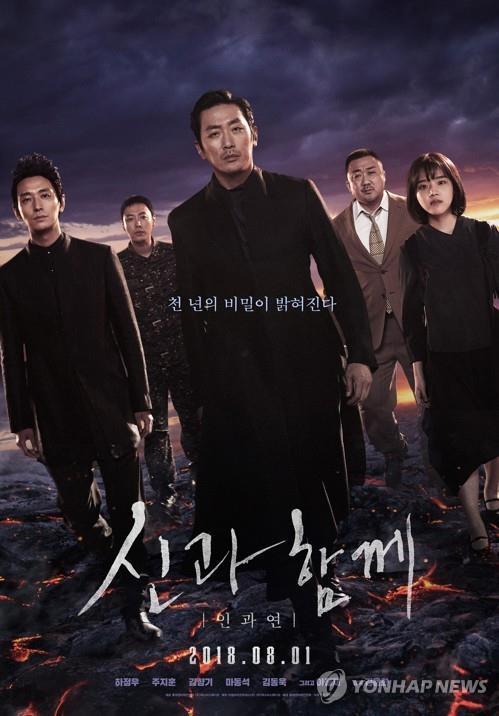 韩国票房:《与神同行2》居韩影史榜第12