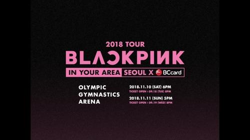 BLACKPINK演唱会海报(韩联社/YG娱乐供图)