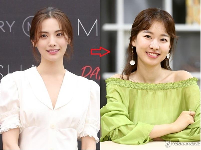 资料图片:演员Nana和李诗雅(韩联社)