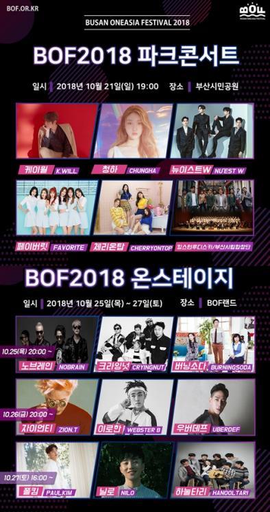 釜山同一个亚洲文化节演唱会演出整容出炉。(釜山市政府提供)
