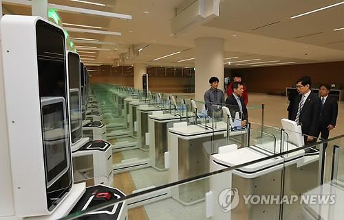 韩国边检明起简化外国人自助通关