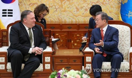 简讯:美国务卿会文在寅称与朝对话有进展