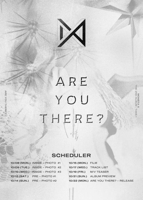 MONSTA X新专辑回归日程表(韩联社/STARSHIP娱乐供图)