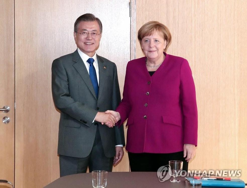 文在寅会见德国总理默克尔