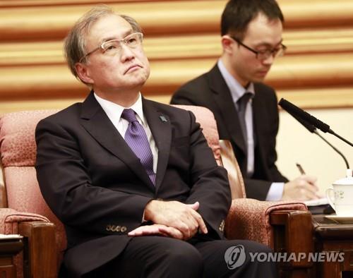 资料图片:日本外务省事务次官秋叶刚男(韩联社)