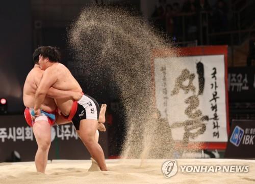 韩朝民俗摔跤申遗成功在望 能否共同入选成看点