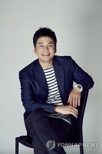 YG娱乐总裁梁铉锡(韩联社/YG娱乐供图)
