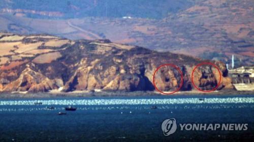 韩军:黄海缓冲区朝鲜一门海岸炮尚未封口