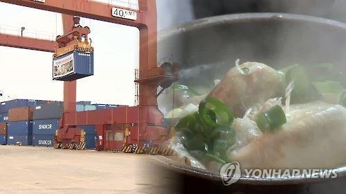 韩国参鸡汤对华出口四年间猛增20倍