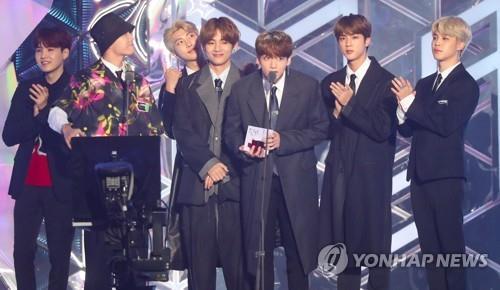 BTS获2018MGA音乐颁奖礼9奖成最大赢家