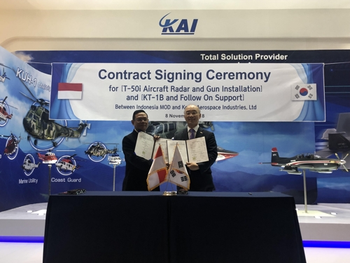 韩印尼签署军售合同规模达6亿