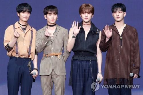 资料图片:男团NU'EST W(韩联社)