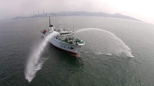 韩中渔政船重启联合巡逻