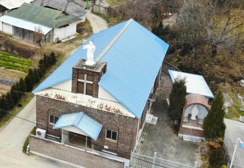 利川利峙里天主教祈祷所(韩联社记者成演在摄)