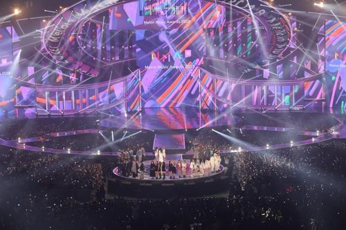 12月1日,2018 Melon Music Awards在首尔高尺天顶巨蛋举行。(Kakao供图)
