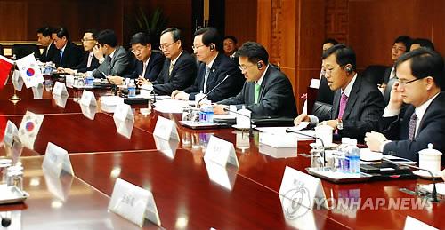 韩中投资合作工作委时隔4年重启
